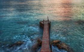 Обои море, вода, камни, океан, берег, побережье, пейзажи