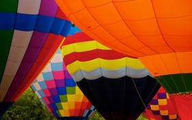 Обои воздушный шар, цвет, текстура, ткань