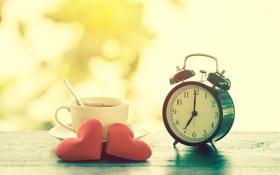 Обои любовь, сердце, часы, love, heart, romantic, valentines