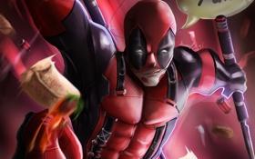 Картинка маска, злодей, Deadpool, наемник, marvel comics, Wade Wilson
