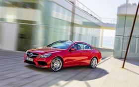 Картинка Mercedes-Benz, Красный, Машина, Мерседес, coupe, e-class, Купэ