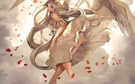 Обои аниме, арт, angel, uuhui
