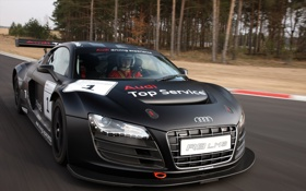 Обои Audi, ауди, трасса, чёрная, LMS, Sport, матовая