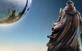 Обои Небо, Свет, Земля, Оружие, Плащ, Bungie, Activision