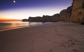 Картинка песок, море, вода, природа, скала, камни, океан