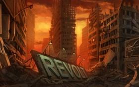 Обои здания, арт, разруха, Revolt, by Real SonkeS
