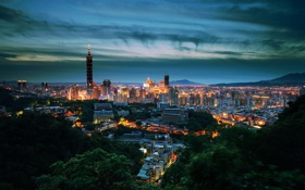 Картинка sunset, night, Taiwan, Taipei