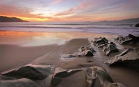Обои камни, океан, вода, море, пляжи, песок, камень