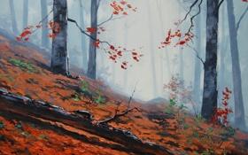 Обои ARTSAUS, АРТ, FOREST FLOOR, РИСУНОК