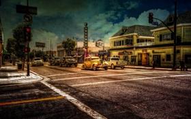 Картинка город, стиль, улица, San Pedro