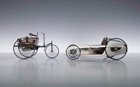 Обои арт, концепт, стипанк, Mercedes-Benz F-CELL Roadster