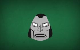 Обои минимализм, комикс, blo0p, Dr. Doom