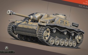 Картинка tank, танк, StuG III Ausf. G, танки, World of Tanks, Wargaming.Net, Германия