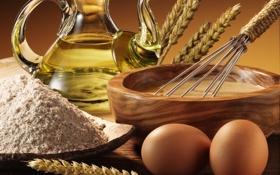 Картинка масло, яйца, злаки, плошка