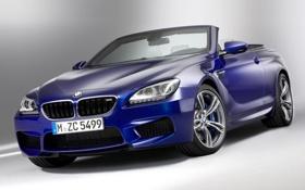 Обои синий, передок, кабриолет, бмв, cabrio, bmw, фары
