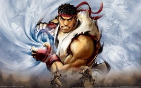 Картинка боец, fighter, уличный, hadouken, ryu, street, game