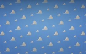 Обои облака, белый, голубой, текстура, небо, обои для рабочего стола