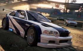 Обои Most Wanted, race, 2012, Need for speed, Aston Martin DB5, BMW M3 GTR, game