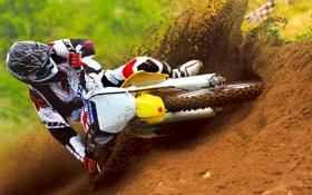 Картинка гонка, мотоцикл, спорт