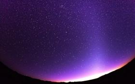 Обои звезды, ночь, пустыня, небо, утро