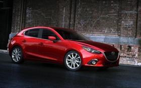 Обои седан, красная, Mazda 3, мазда, Sedan