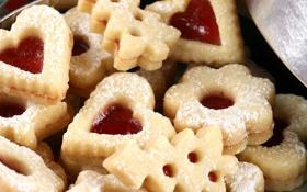 Обои еда, cookies, крем, sweet, 1920x1080, сладкое, печенье