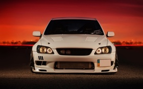 Обои car, white, Toyota, tuning, auto wallpapers, тойота, altezza