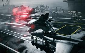 Картинка корабль, самолёт, Battlefield
