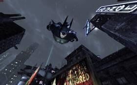 Обои Бэтмен, полет, Batman Arkham City, game
