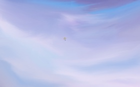 Обои небо, воздушные шары, звёзды