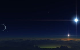 Обои звезды, планета, terraspace, поверхность, Binary2