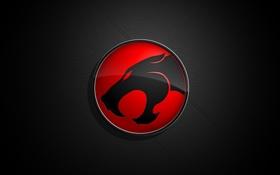 Обои красный, знак, ягуар
