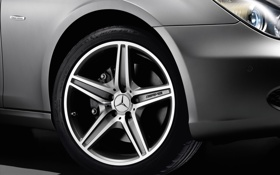 Обои машины, колесо, Mercedes, колёса, авто обои, мерседесы, Benz CLS Grand Edition