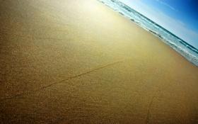 Обои Песок, берег, небо, волны, море