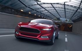 Обои ford, дорога, концепт, evos, форд