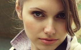 Картинка лицо, модель, голубые глаза