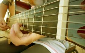 Картинка музыка, гитара, струны, палец