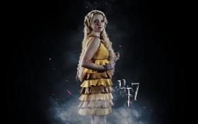 Картинка взгляд, платье, актриса, Evanna Lynch, Luna Lovegood