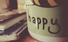 Картинка счастье, текст, надпись, руки, кружка, чашка, пальцы
