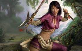Обои девушка, воин, Action, красотка, BioWare, 2007, RPG