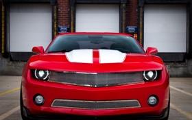 Обои тюнинг, Camaro, Red, chevrolet, камаро