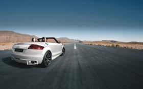 Обои Audi, Небо, Дорога, Ауди, Белый, Пустыня, День