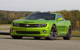 Обои car, green, Chevrolet, Camaro, front, Hot Wheels