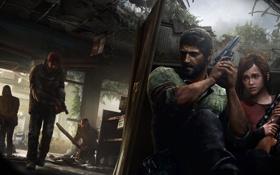 Обои апокалипсис, бандиты, Элли, револьвер, эпидемия, снайперская винтовка, The Last of Us