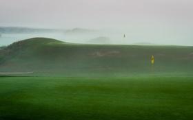 Картинка поле, туман, спорт, гольф