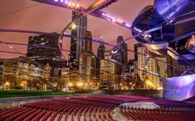 Обои Чикаго, США, штат Иллинойс, Millennium Park, Миллениум-парк, Jay Pritzker Pavilion