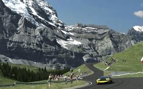Обои горы, гонка, Lamborghini, GT5