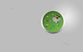 Картинка фантастика, графика, кролик, арт, лаборатория, hi-tech, Пиксель