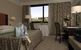 Обои отель, Sheraton, дизайн, Firenze, интерьер, комната, стиль
