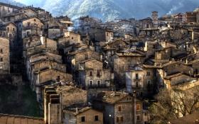 Картинка город, дома, Italy, Scanno